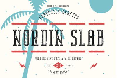 Nordin Slab Vintage Font Family