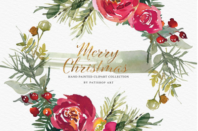 Watercolor Christmas Clipart Collection