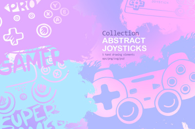 "Collection ""Abstract joysticks"""