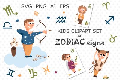 Zodiac illustration for kids.