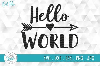 Hello world SVG File, Newborn Svg