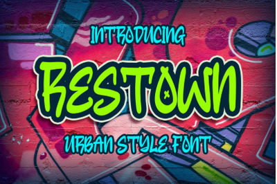 Restown Urban Style Font