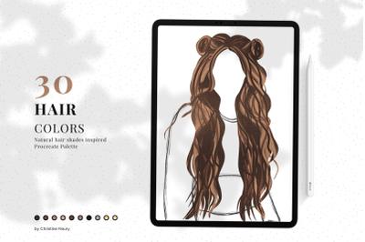 Hair - Procreate Color Palette