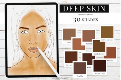 Deep Skin Tones - Procreate Color Palette