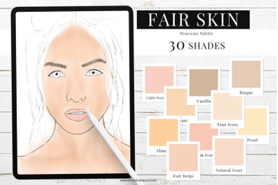 Fair Skin Tones - Procreate Color Palette