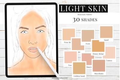 Light Skin Tones - Procreate Color Palette
