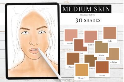 Medium Skin Tones - Procreate Color Palette