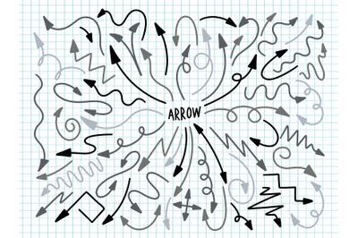 Arrow collection design decoration.