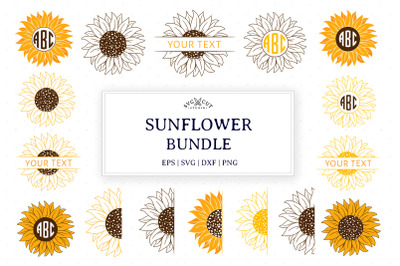 Sunflower Bundle SVG Cut Files