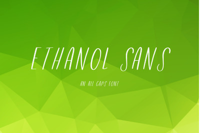 Ethanol Sans Font