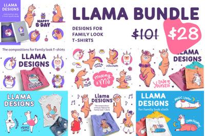 BUNDLE of Llamas. T-shirt designs