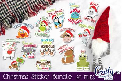 Christmas Sticker Bundle, Animal Stickers Pet Christmas