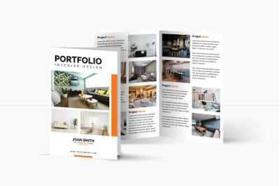 Interior Design bifold Brochure | Multipurpose Bifold Brochure