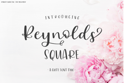Reynolds Square Font Duo