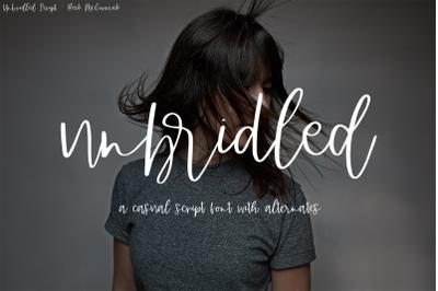 Unbridled Script Font