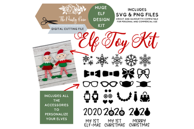 Elf Toy Kit, SVG Bundle, Elf design, Elf DIY, Christmas svg, Elf Kit