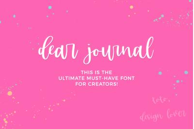 Dear Journal Calligraphy Font