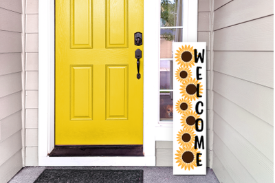 Sunflower Vertical Porch Sign | SVG | PNG | DXF | EPS