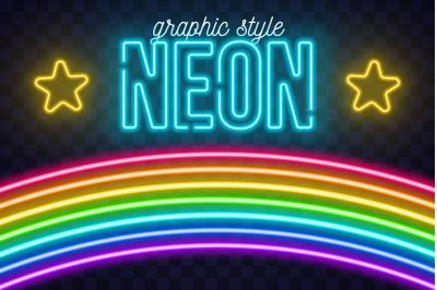 Realistic Neon AI Style