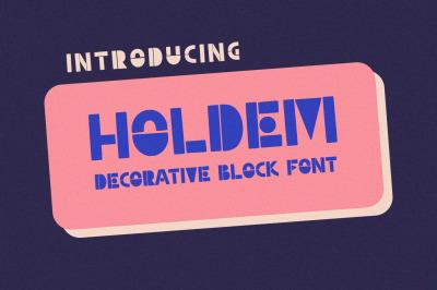 Holdem - Display Block Font