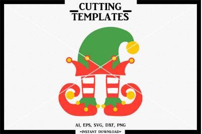 Christmas Elf, Elf SVG, Silhouette, Cricut, Cameo, SVG, PNG