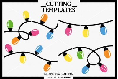 Christmas Lights SVG, Christmas, Cameo, Cricut, Cut File