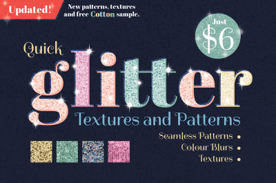 Glitter Backgrounds, Textures and Patterns