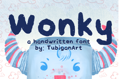 Wonky - handwritten playful font