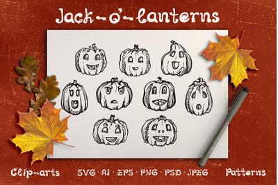 Halloween Design Kit | SVG EPS AI PNG PSD JPEG