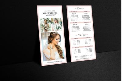 Photography Rack card