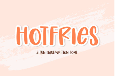 Hotfries - a Fun Handwritten Font