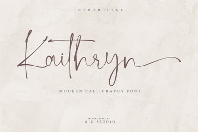 Kaithryn-Calligraphy Font