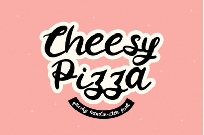 Cheesy Pizza - a Lovely Handwritten Font