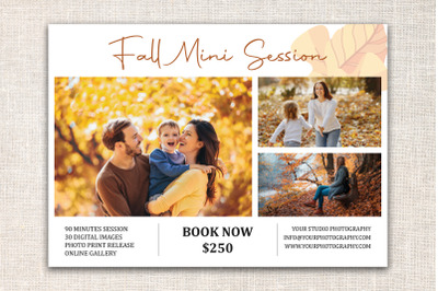 Fall Mini Session Template | Autumn Mini Session Template