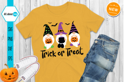 Halloween Gnomes Svg, Trick Or Treat Svg