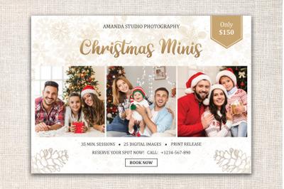 Christmas Mini Session Template | Winter Mini Session