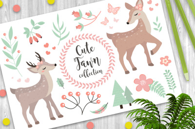 Cute fawn collection