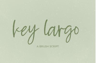 Key Largo Brush Script