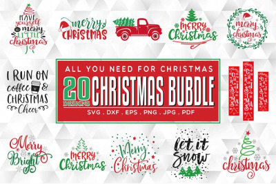 20 Christmas SVG Bundle