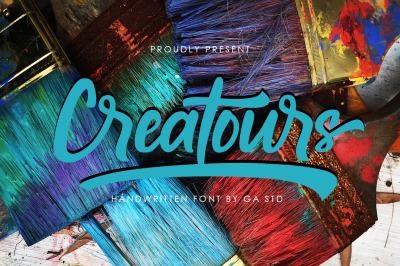 Creatours - Handwritten Font
