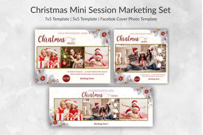 Christmas Mini Session Marketing Set | Winter Min Session