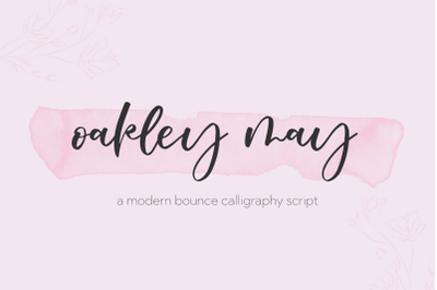 Oakley May Calligraphy Script