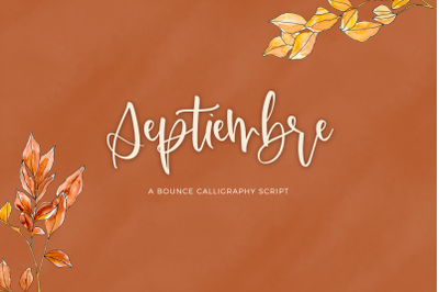Septiembre Calligraphy Font
