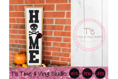 Skull Svg, Home Svg, Welcome Svg, Porch Sign Svg, Skull Bones Porch Si