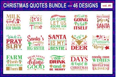 Christmas Quotes Designs Bundle #1