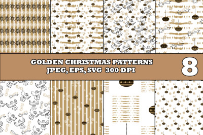 Golden Christmas Patterns