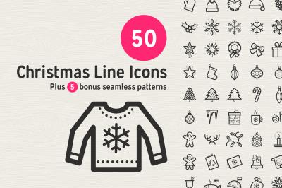 50 Christmas Line Icons