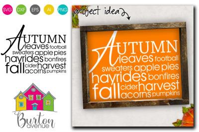 Autumn Word Art SVG File | Fall SVG File