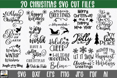 Christmas SVG Bundle - Christmas Sign Bundle