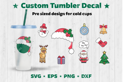 Christmas design set to personalize your Cold Cup Tumbler.